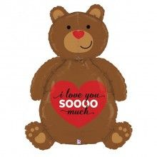 Folieballon love bear 3D 120cm