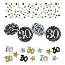 Tafelconfetti sparkling Happy Birthday goud 30 jaar