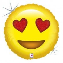 Folieballon 45cm emoticon Love