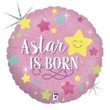 Folieballon a star is born baby girl