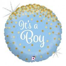 Folieballon glittering it's a boy