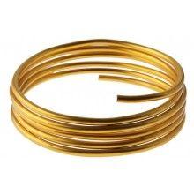 Lichtgewicht aluminiumdraad 2mm goud, 5 meter