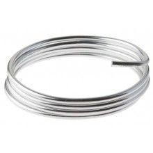 Lichtgewicht aluminiumdraad 2mm zilver, 5 meter