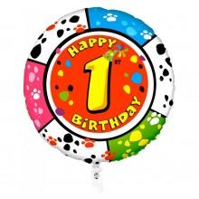 Folieballon 53cm animaloon Happy Birthday 1