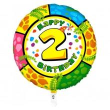 Folieballon 53cm animaloon Happy Birthday 2