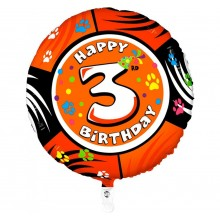 Folieballon 53cm animaloon Happy Birthday 3