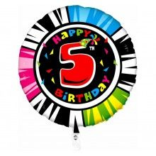 Folieballon 53cm animaloon Happy Birthday 5