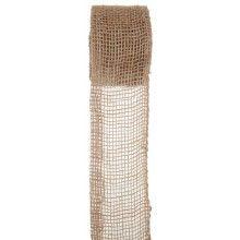 Decoratief jute lint 70mm bruin, lengte 5 meter
