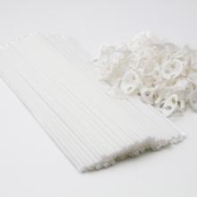 Biologisch afbreekbare ballonstokjes wit, 10 stuks