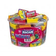 Verpakt snoep Maoam blokjes, 10 stuks