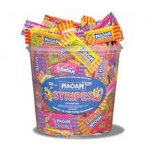 Verpakt snoep Maoam stripes assortie 7.5 gram, 10 stuks