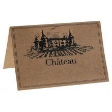 Naamkaartjes Chateau kraft, 10 stuks