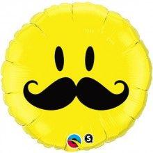 Folieballon Smiley Snor