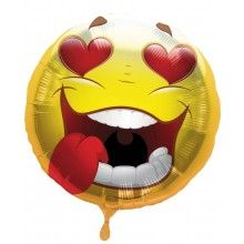 Folieballon Emoticon Crazy Love