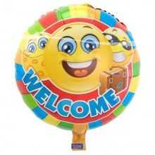 Folieballon Emoticon Welcome