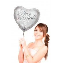 Folieballon 45cm Just Married