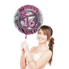 Folieballon Sweet Sixteen