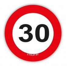 Tafelconfetti verkeersbord 30 jaar