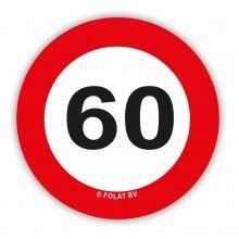 Tafelconfetti verkeersbord 60 jaar