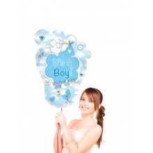 Folieballon Voet It's a boy supershape