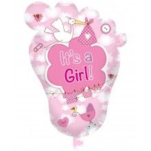 Folieballon Voet It's a girl supershape