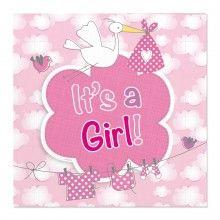 Servetten It's a girl