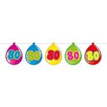 Vlaggenlijn ballonnen 80 jaar