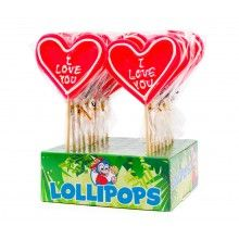 Hart lolly XL 80 gram I love you, per stuk
