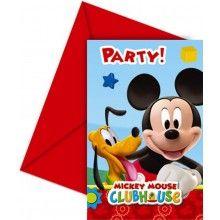 Uitnodigingen Mickey