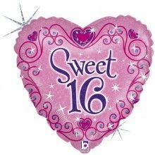 Folieballon 45cm Sweet Sixteen sparkles