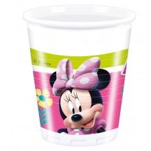 Bekers Minnie Mouse Happy, 8 stuks