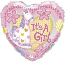 folieballon It's a girl giraf