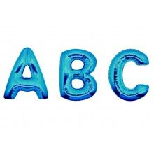 Folieballon letters 35 cm blauw