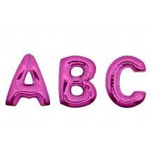 Folieballon letters 100 cm fuchsia