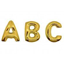 Folieballon letters 35 cm goud