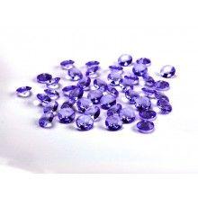 Kristal diamant confetti paars 12mm, zakje 100