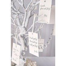 Wensboom kaartjes parelmoer, 10 stuks