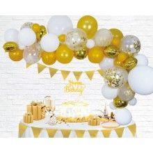 Ballon decoratie kit goud, 71-delig
