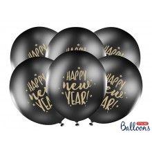 Ballonnen 30cm Happy New Year! 6 stuks