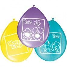 Ballonnen 30cm Woezel en Pip, 8 stuks