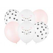 Ballonnenset katten mix, 6 ballonnen
