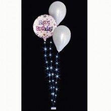 Ballon LED set 3 wit