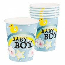 Bekers Baby Boy regenboog 250ml, 6 stuks