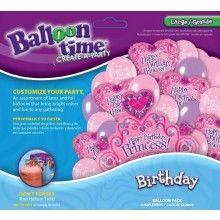 Ballonnen combi set Birthday princess XL