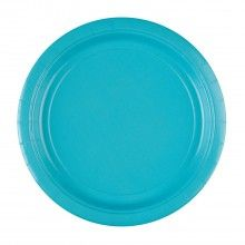 Bord 23cm carribean blauw, 8 stuks