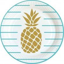 Bord 23cm Ananas, 10 stuks