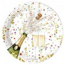 Borden sparkling celebration 23cm, 8 stuks