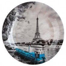 Borden 23cm vintage look Parijs, 10 stuks