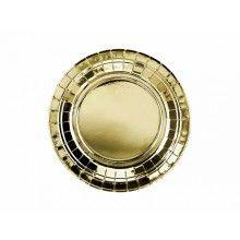 Bordje 18cm goud metallic, 6 stuks
