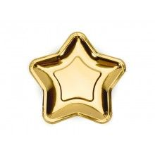 Bordje ster goud, 6 stuks